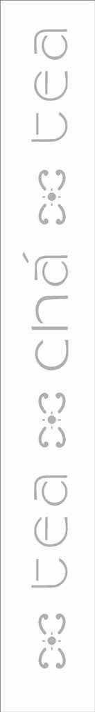 Stencil de Acetato para Pintura OPA Simples  4 x 30 cm - Chá II 394