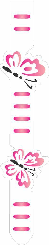 Stencil de Acetato para Pintura OPA Simples  6 X 30 cm - Fita Borboletas 952