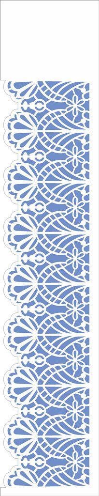 Stencil de Acetato para Pintura OPA Simples 6 x 30 cm - 2666 Negativo Renda I