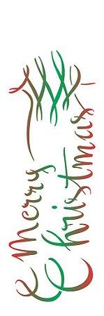 Stencil de Acetato para Pintura OPA 10×30 Simples – Merry Christmas – OPA 2308