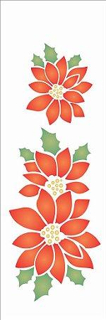Stencil de Acetato para Pintura OPA 10×30 Simples – Flor Natalina – OPA 1112