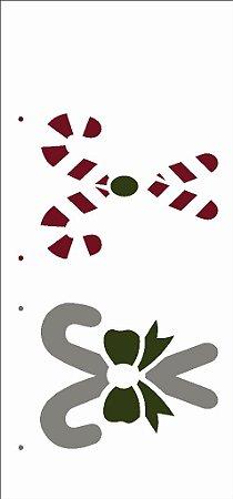 Stencil de Acetato para Pintura OPA 7×15 Simples – Bengala de Natal – OPA 2542