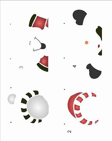 Stencil de Acetato para Pintura OPA 20×25 Simples – Boneco de Neve – OPA 2554