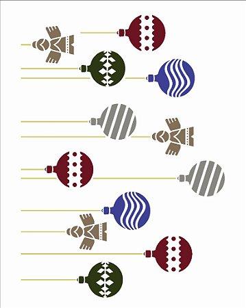 Stencil de Acetato para Pintura OPA 20×25 Simples – Bolas Estampadas II – OPA 2553