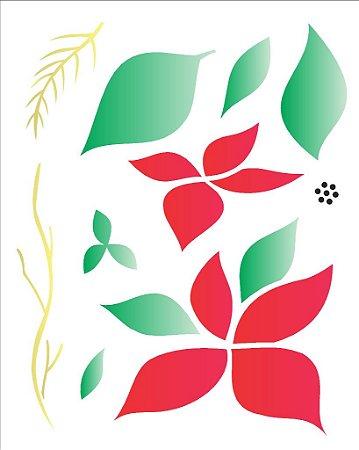 Stencil de Acetato para Pintura OPA 20X25 Simples – Flor Bico de Papagaio – OPA 1787
