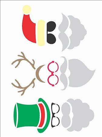 Stencil de Acetato para Pintura OPA 15×20 Simples – Papai Noel Moderno – OPA 2310