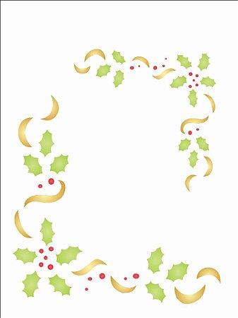 Stencil de Acetato para Pintura OPA 15×20 Simples – Cantoneira Natal – OPA 1114