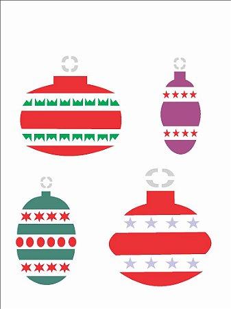 Stencil de Acetato para Pintura OPA 15×20 Simples – Enfeites de Natal – OPA 872