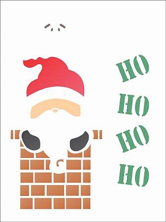 Stencil de Acetato para Pintura OPA 15×20 Simples – Papai Noel Chaminé – OPA 1117