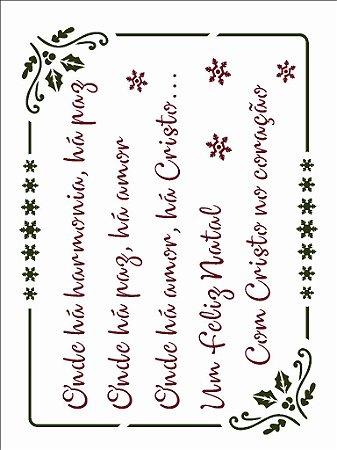 Stencil de Acetato para Pintura OPA 15×20 Simples – Poema Mensagem Natalina – OPA 2551