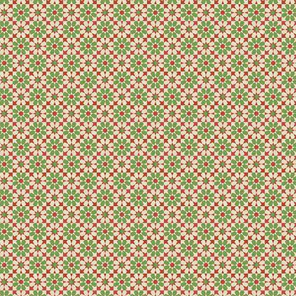 Papel Para Scrapbook Dupla Face 30,5 cm x 30,5 cm - SDN-074 - Scrap Duplo Natal - Listras Vermelhas/Verdes