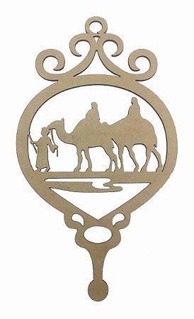 Guirlanda MDF Camelo Natal Decoração