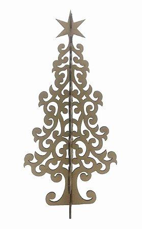 Árvore Natal Cruzada A 49a MDF Decoração