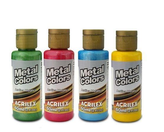 Tinta Acrílica Metal Colors Acrilex 60 ml