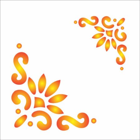 Stencil 10×10 Simples – Cantoneira Estilizada – OPA462