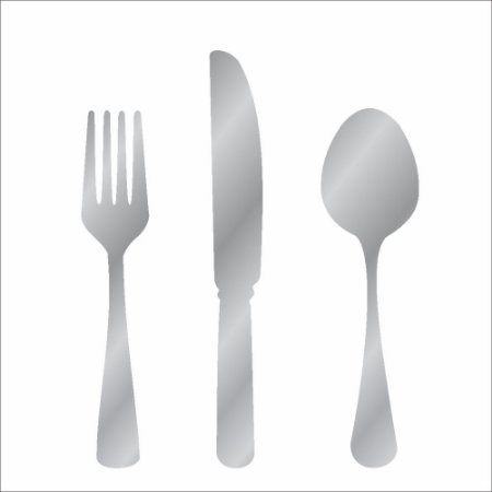 Stencil 10X10 Simples – Talheres – OPA239