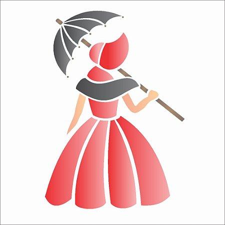 Stencil 10×10 Simples – Dama Antiga – OPA1129