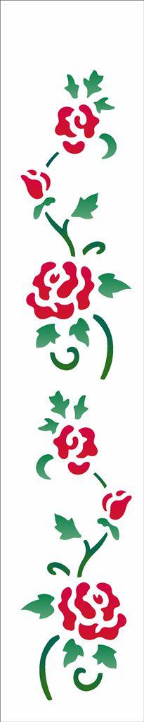Stencil 06×30 Simples – Ramo Rosas II – OPA 958