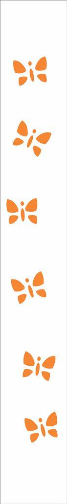 Stencil 04×30 Simples – Borboletas Mini – OPA 059