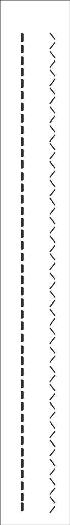 Stencil 04×30 Simples – Pontilhado III – OPA 129