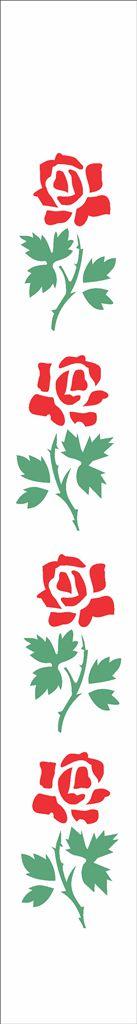 Stencil 04×30 Simples – Flores Rosas – OPA 188