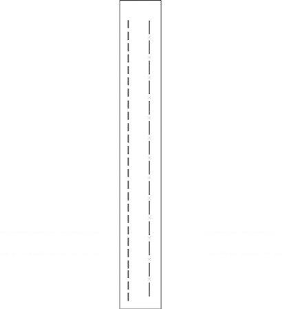 Stencil04×30 Simples – Pontilhado II – OPA 128