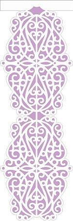 Stencil 10×30 Simples – Negativo Renda Arabesco – OPA 2425