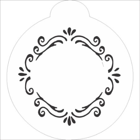 Stencil 10×10 Redondo – Moldura Arabesco – OPA848