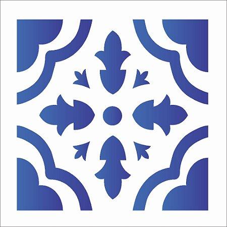 Stencil 10×10 Simples – Ladrilho Coração – OPA 1345