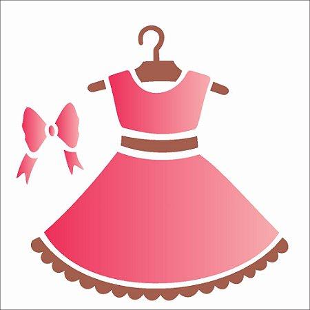 Stencil 10×10 Simples – Vestido – OPA1856