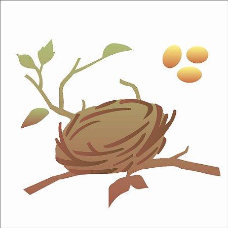 Stencil 14×14 duplo – Ninho de passarinho – OPA 1747