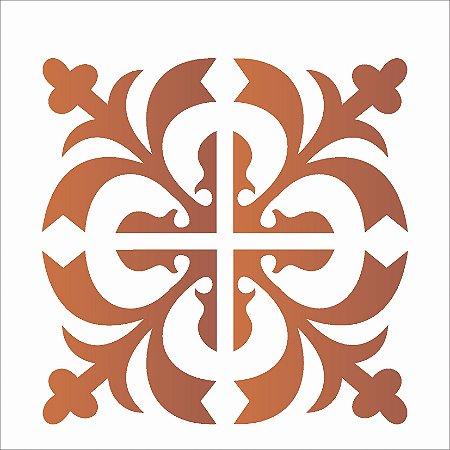 Stencil 14×14 Simples – Ladrilho Medieval – OPA 1736
