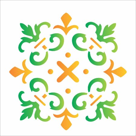Stencil 14×14 Simples – Ladrilho Cruzeta – OPA 1363
