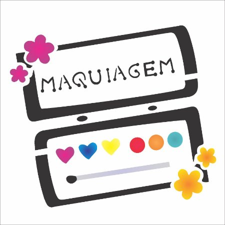 Stencil 14×14 Simples – Maquiagem III – OPA 994