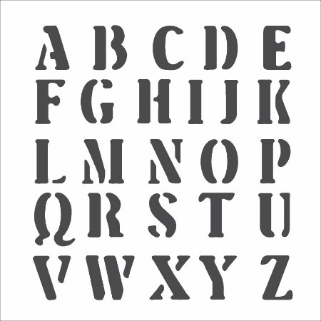 Stencil 14×14 Simples – Alfabeto III – OPA 975
