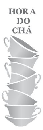 Stencil 10×30 Simples – Xícaras Empilhadas – OPA 2235