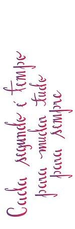 Stencil 10×30 Simples – Frase Tempo – OPA 2229