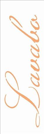 Stencil 10×30 Simples – Palavras Lavabo – OPA 2426