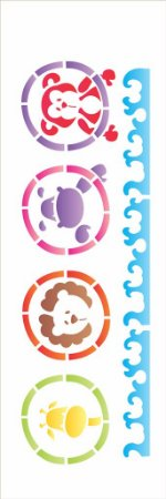 Stencil 10×30 Simples – Bichos Arca – OPA 1204