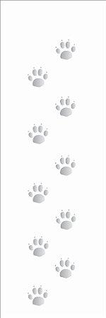 Stencil 10×30 Simples – Patinhas – OPA 041