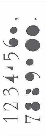 Stencil 10×30 Simples – Números – OPA 301