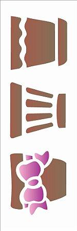 Stencil 10×30 Simples -Trio Vasos – OPA 1475
