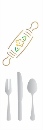 Stencil 10×30 Simples – Talheres – OPA 117