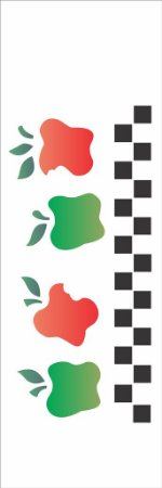 Stencil 10×30 Simples – Frutas Maçã Country – OPA 1034