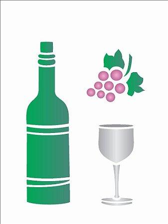 Stencil 15×20 Simples – Vinho – OPA 752