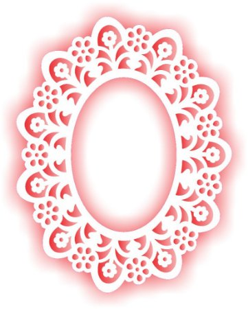 Stencil 15×20 Simples – Negativo Moldura Renda – OPA 2042