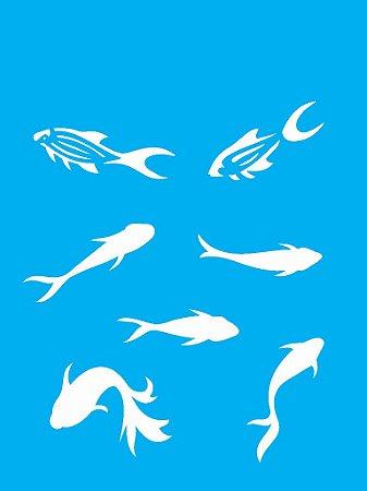 Stencil 15×20 Simples – Peixinhos – OPA 2043