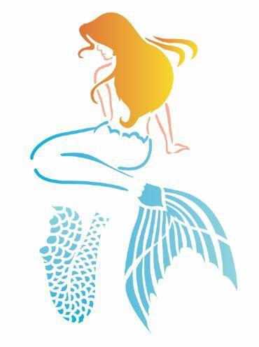 Stencil 15×20 Simples – Mar – Sereia – OPA 2575