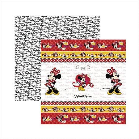 Folha para Scrapbook Dupla Face Disney Toke e Crie Minnie Mouse 1 Fitas e Rótulos - 19297 - SDFD003