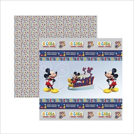 Folha para Scrapbook Dupla Face Disney Toke e Crie Casa do Mickey 1 Fitas e Rótulos - 19703 - SDFD119